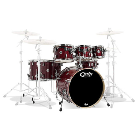 PDCM2217CS 7-Piece Concept Maple Shell Pack with Chrome Hardware Cherry Stain Lacquer – PDP By DW