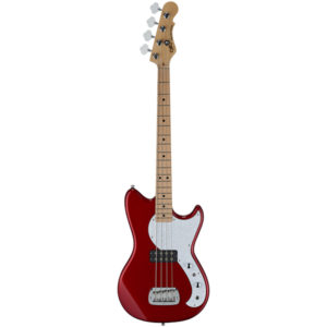 G&L TRIBUTE SERIES FALLOUT SHORTSCALE BASS Candy Apple Red