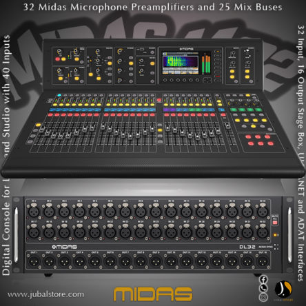Midas M32 Live Digital Mixing Console With DL 32