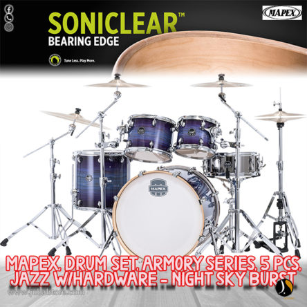 Armory Series 5 pcs Jazz Shell Pack With 800 Series Hardware – Mapex