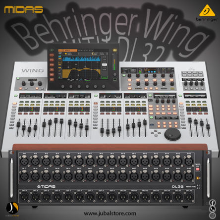 Behringer Wing 48 Channel Digital Mixer With 2 Midas DL32 Stage Box